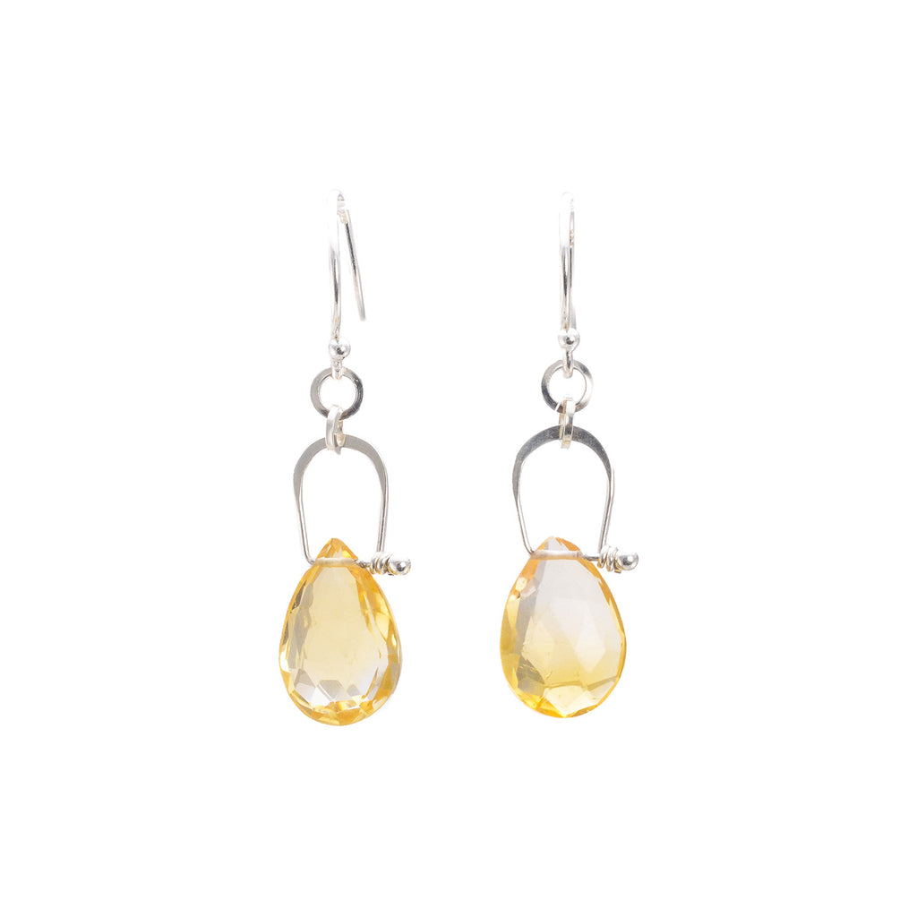 NEW! Stirrup Pear Shaped Citrine Earrings by Serena Kojimoto