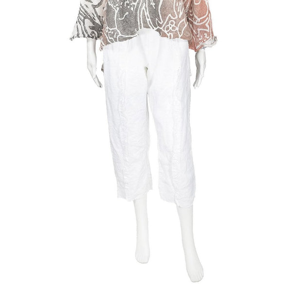 Clark Pant in White Linen by Skif