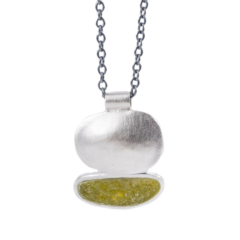 NEW! Silver Cloud Necklace with Peridot by David Urso