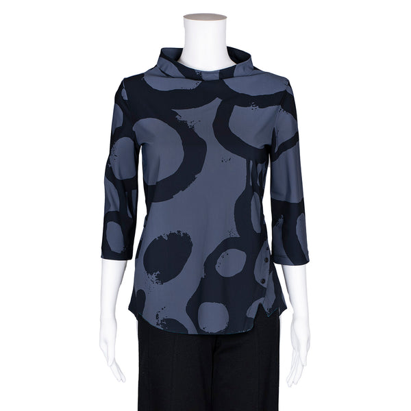 SALE! Cody Top in Carbon Halo Print by Porto