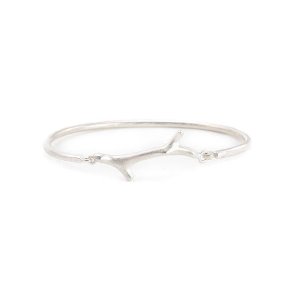 NEW! Silver Coral Clasp Bangle Bracelet by EAM