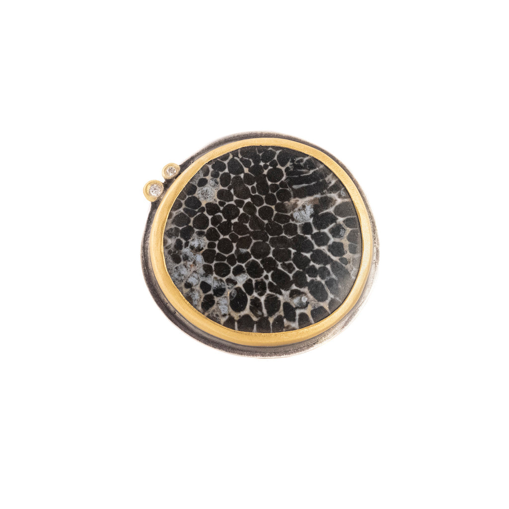 NEW! Bryozoan Coral Ring by Ananda Khalsa