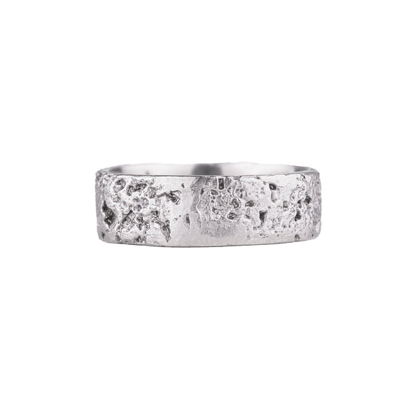 NEW! White Palladium Cork Ring by Dahlia Kanner