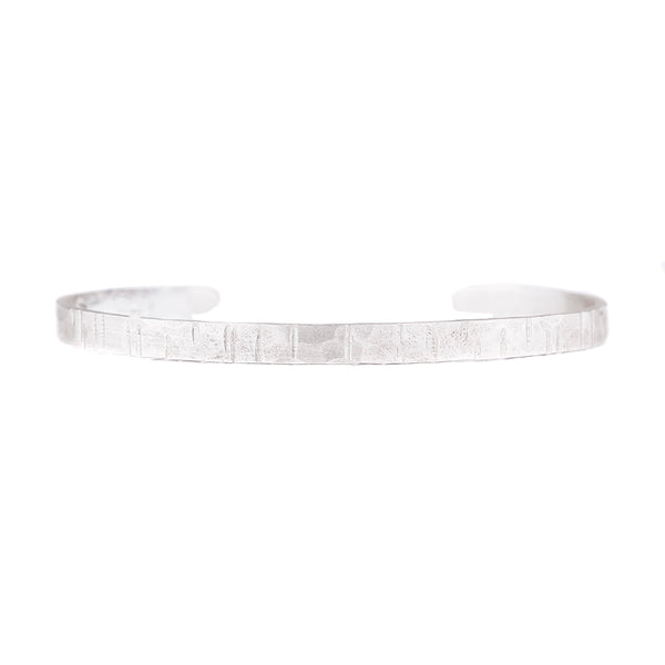 NEW! Linear Hammered Textured Sterling Silver Cuff by EC Design