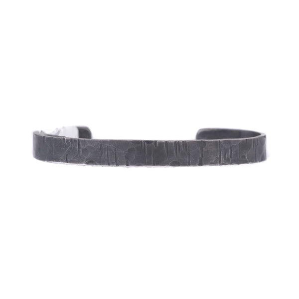 NEW! Linear Hammered Textured Oxidized Silver Cuff by EC Design