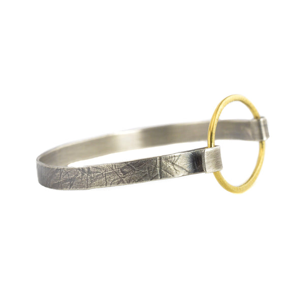 Single Hatch Hoop Cuff Bracelet by Lisa Crowder