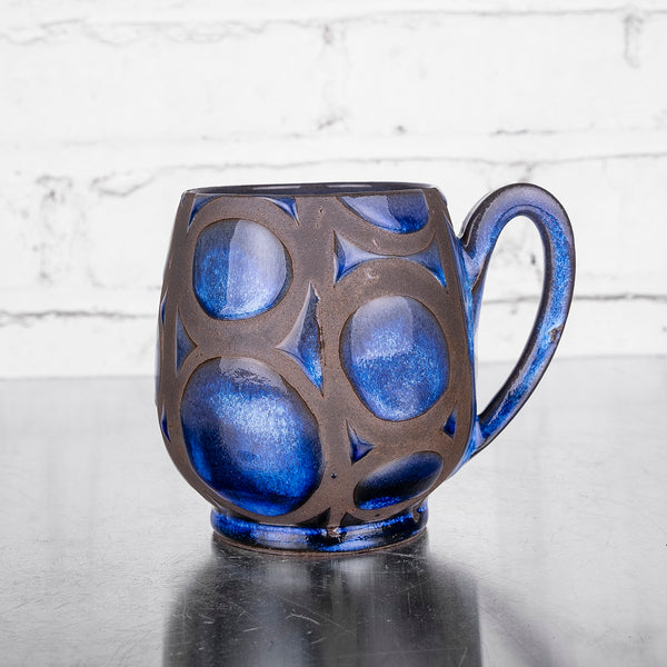 NEW! Blue Design Mug B by Liz Kinder