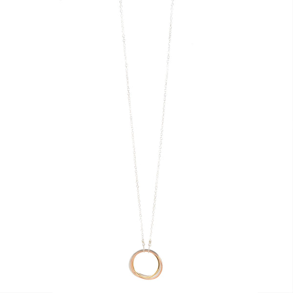 NEW! Small Curved Hoop Tri-Toned Necklace by Colleen Mauer Designs