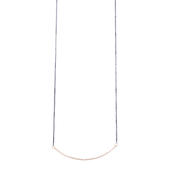 NEW! Curved Slinky Bar Necklace by Carla Caruso
