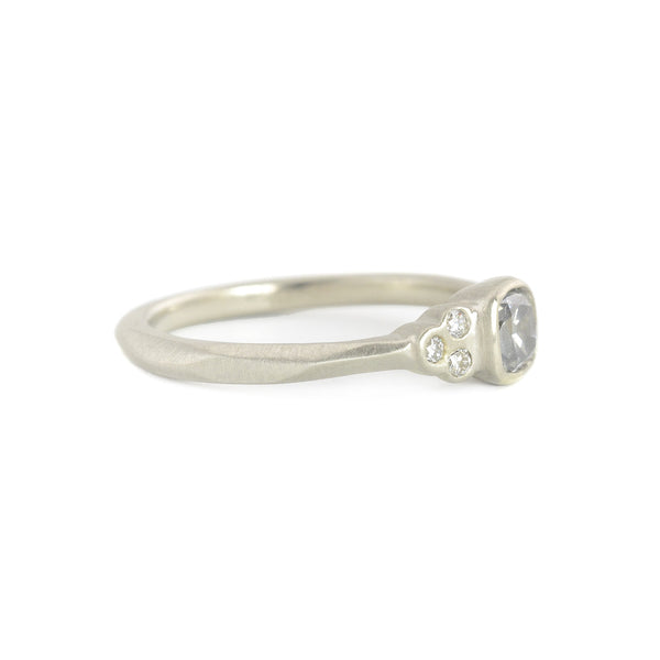 NEW! Dainty Cushion Clover Cluster Ring by Rebecca Overmann