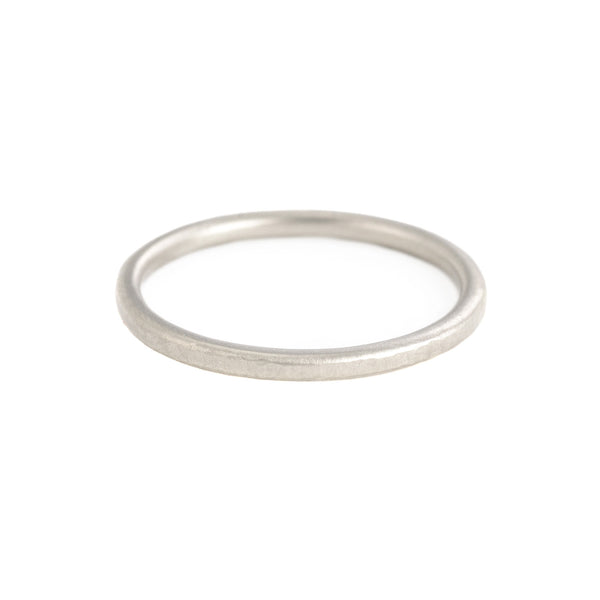 18k White Gold Dappled Band by Sarah Swell