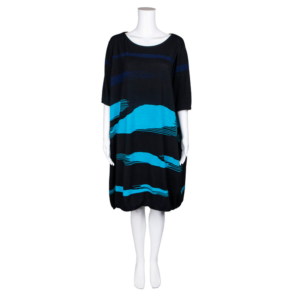 NEW! Black, Blue and Turquoise Sweater Dress by Knit Knit