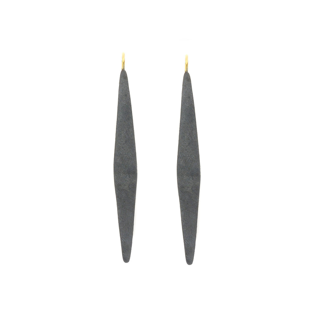 NEW! Geo Drop Earrings in Black by Shaesby