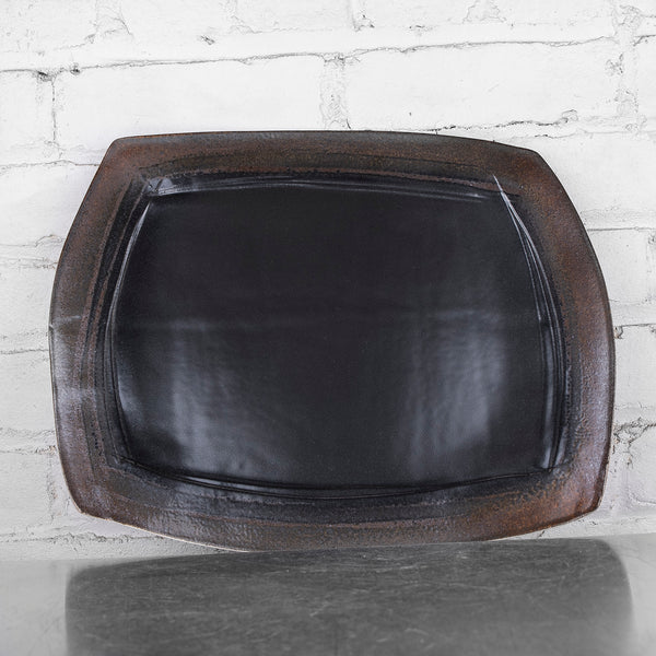 NEW! Black Small Platter by Eric Jensen