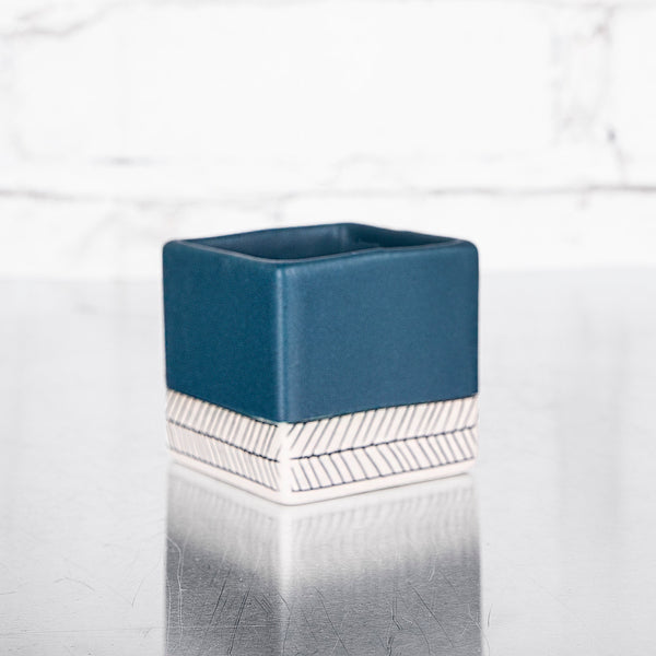 NEW! Small Square Planter in Deep Ocean by Elizabeth Benotti