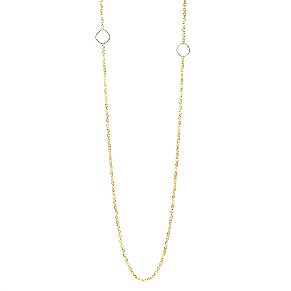 NEW! Delicate Chain Necklace in Yellow Gold/Silver by Colleen Mauer Designs