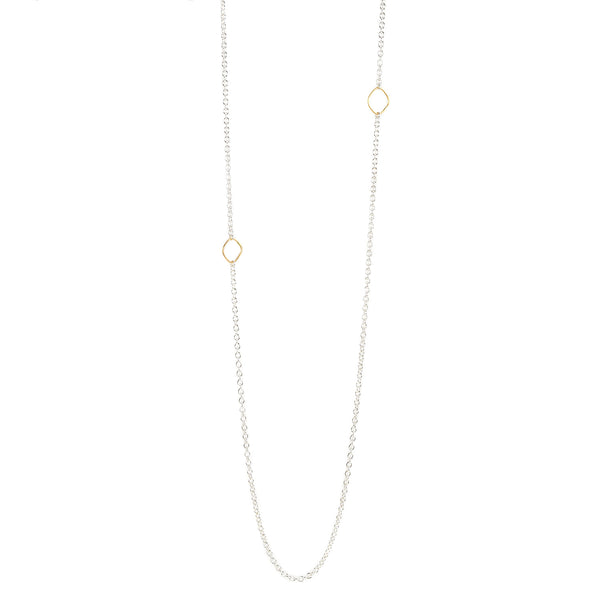 NEW! Delicate Chain Necklace in Silver/Yellow Gold by Colleen Mauer Designs