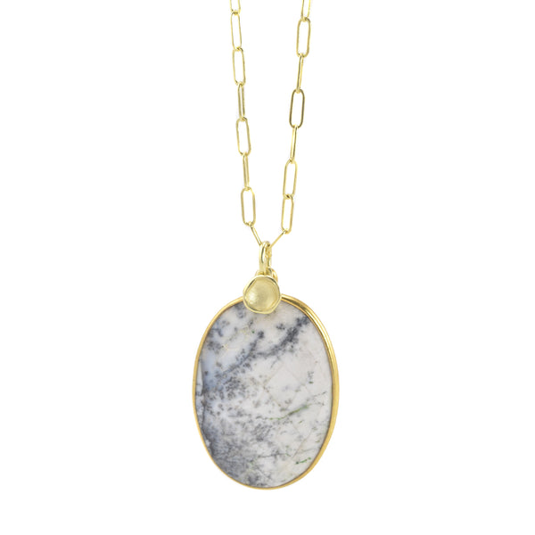 NEW! Large Bezeled Dendritic Opal Necklace by Sarah Richardson