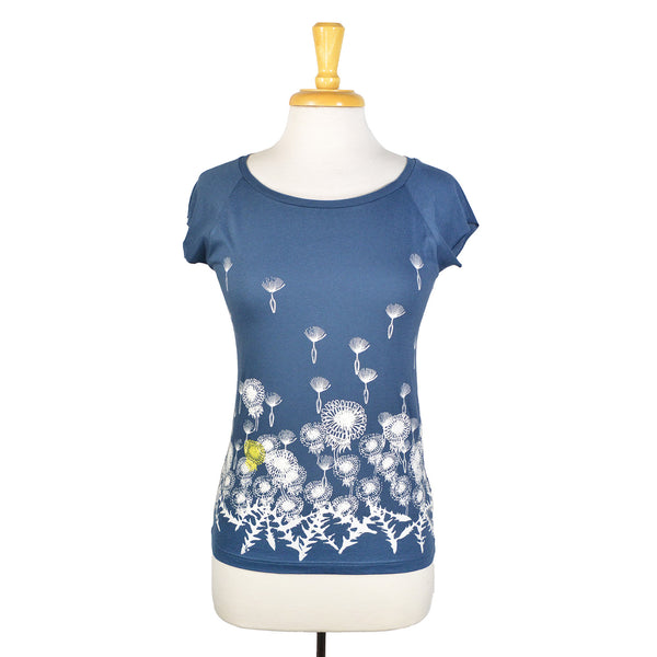 Denim Dandelion T-Shirt by Umsteigen