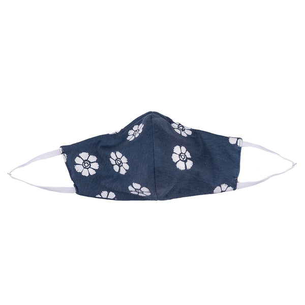 NEW! Umsteigen Bamboo Mask in Denim Daisies