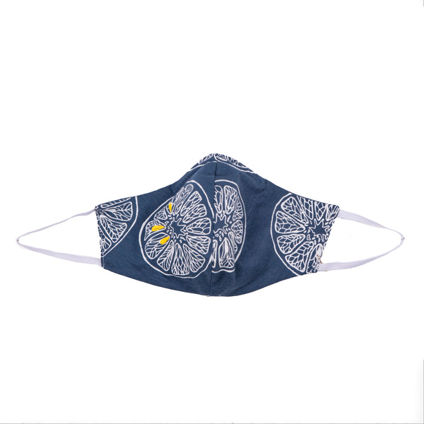 NEW! Umsteigen Bamboo Mask in Denim Lemons