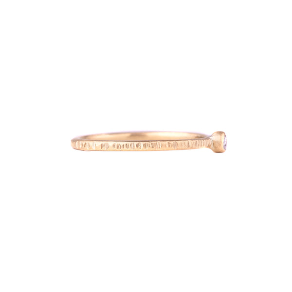 NEW! .0625 ctw Diamond Shine On Stacker Gold Ring by Kate Maller