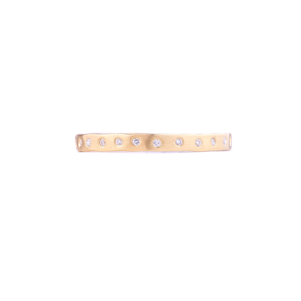 NEW! 2mm Faceted Eternity Band with Diamonds by Sarah Mcguire
