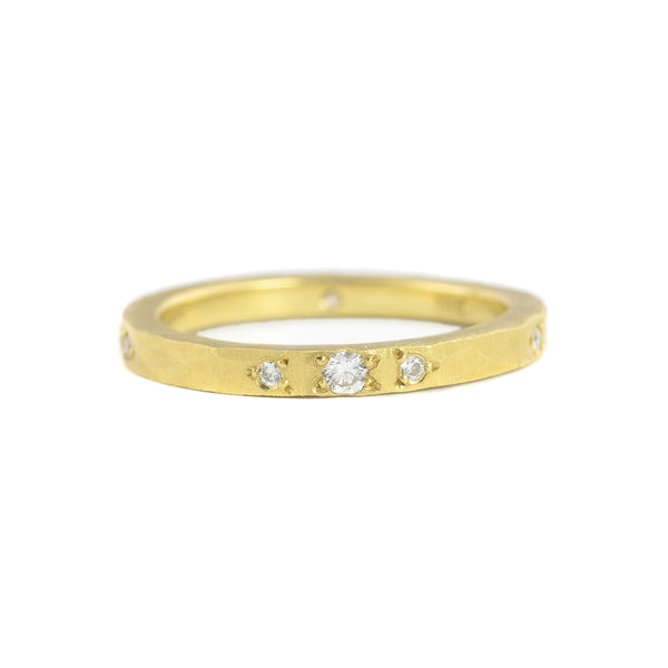 Etruscan Diamond Plain Band by Dawes Design