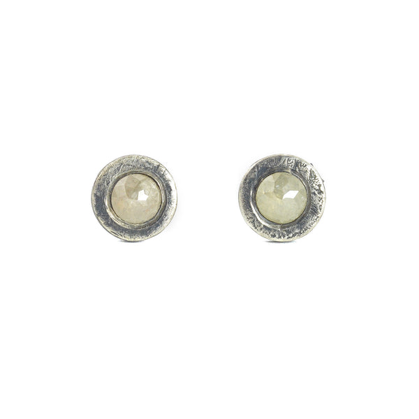 NEW! Rose cut Diamond Stud Earrings by Sasha Walsh