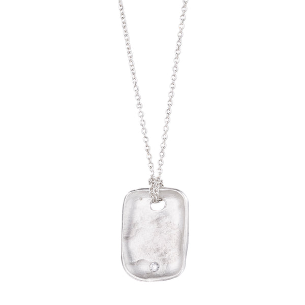 NEW! Dog Tag with Diamond Necklace by Rebecca Overmann