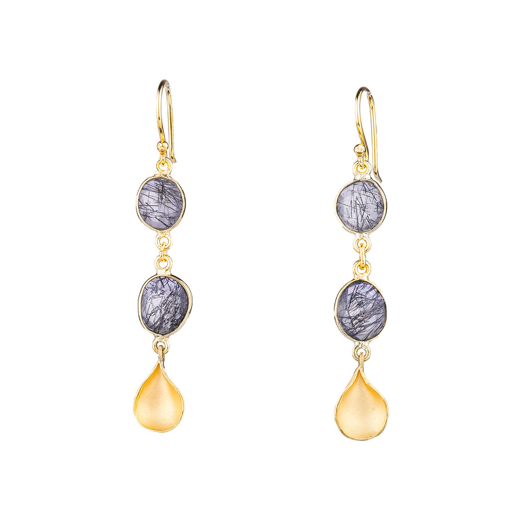 NEW! Double Bezel Petal Drop Earrings by Sarah Richardson