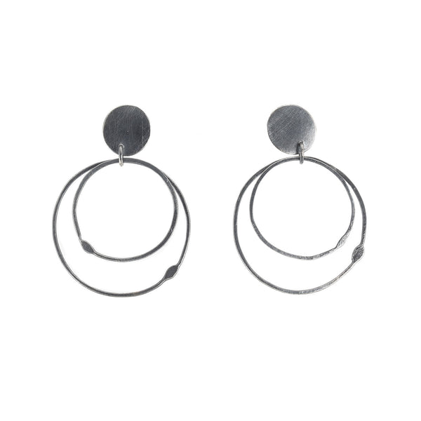 NEW! Double Hoop Post Earrings by Dina Varano