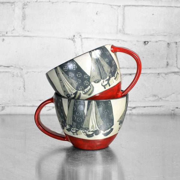 NEW! Latte Mugs by Sally Jaffee