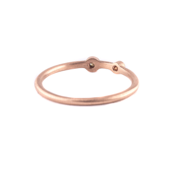 NEW! Two Diamond Stacker Ring in 18k Rose Gold by Heather Guidero