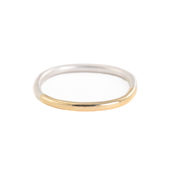 Thin Gold and Silver Gradient Round Ring by Colleen Mauer Designs