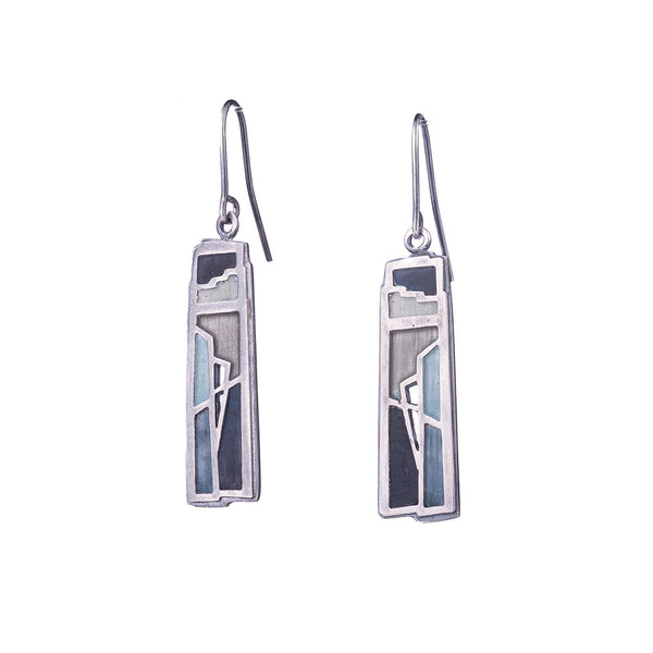 NEW! Rectangular Enamel Earrings by Carly Wright