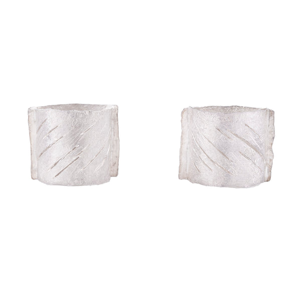 NEW! Rounded Square Post Earrings by Reiko Ishiyama
