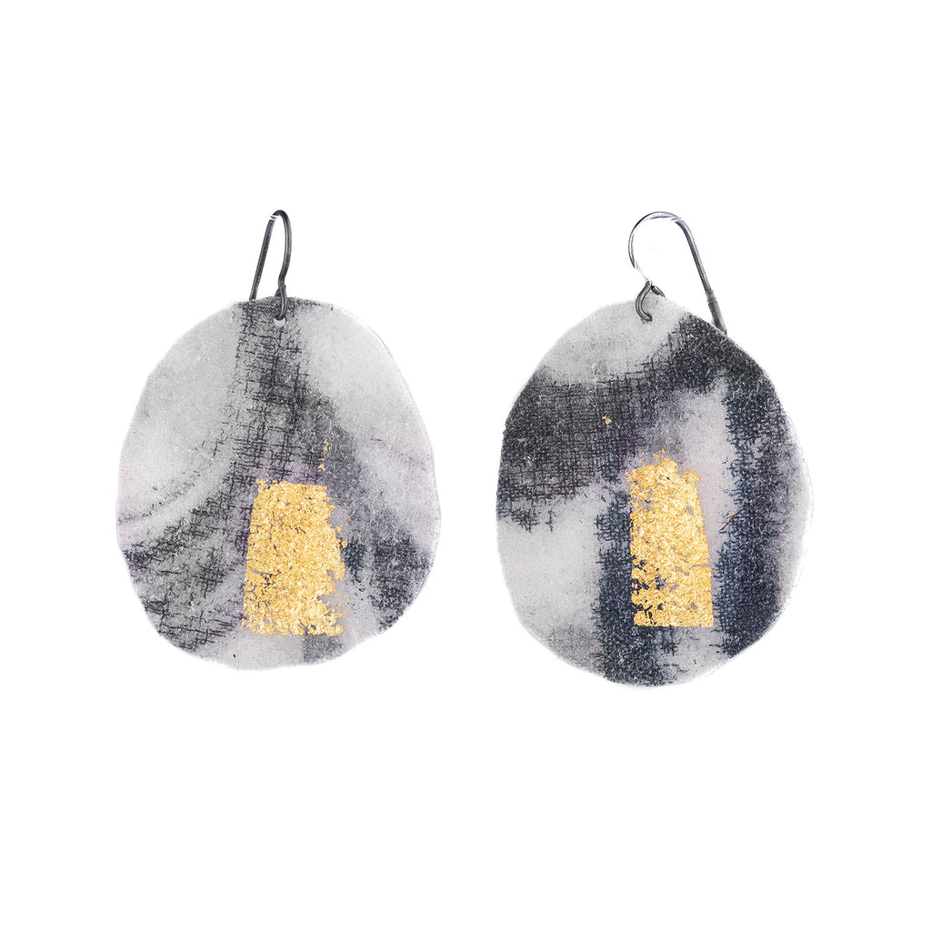 NEW! Leaf Line Earrings by Myung Urso
