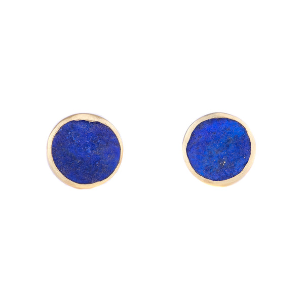 NEW! Lapis Lazuli Natural Surface Studs by Judi Powers
