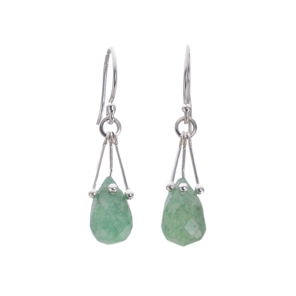NEW! Aventurine Earrings by Serena Kojimoto
