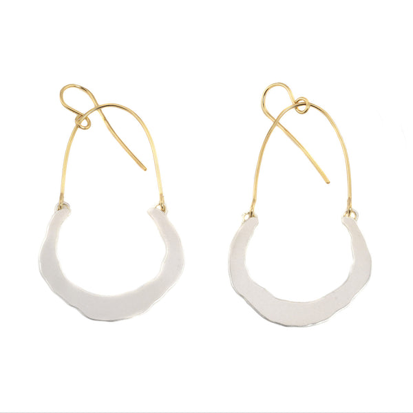 NEW! Small Swing Half Hoop Earrings by Lisa Crowder