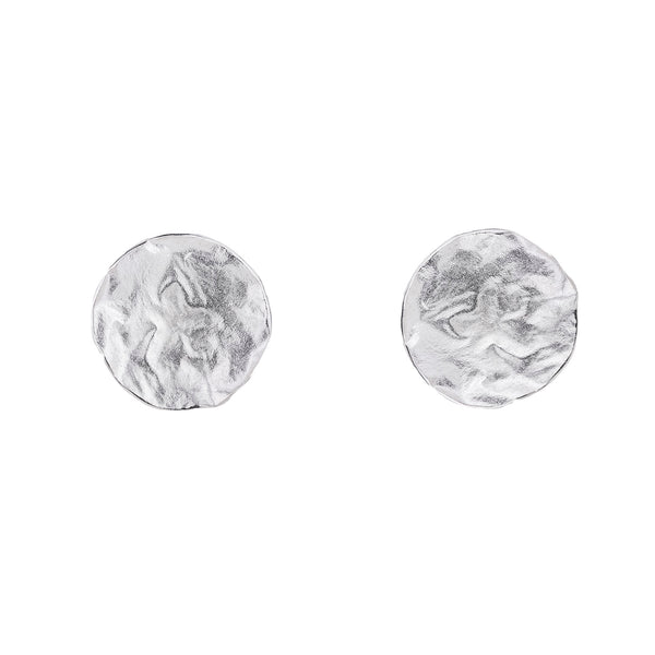 NEW! Reticulated Circle Earrings in Sterling Silver by Thea Izzi