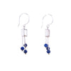 NEW! Small Square Fringe Stone Earrings in Lapis by Ashka Dymel
