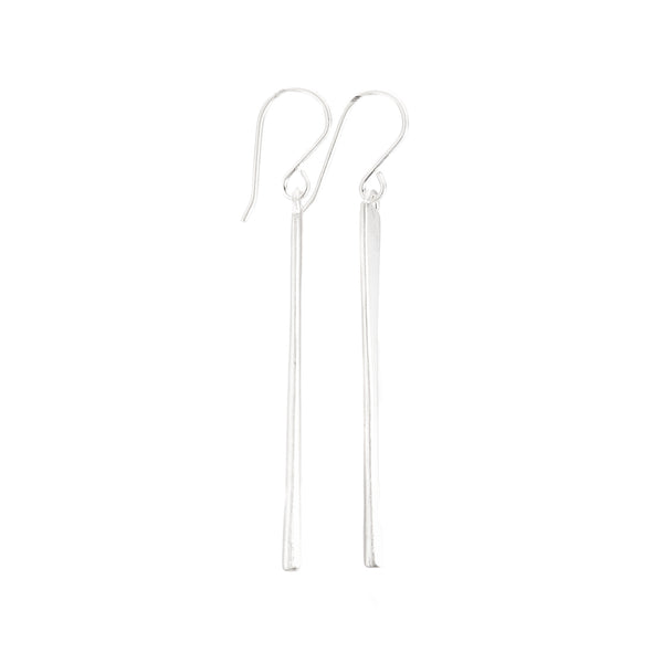 NEW! Sterling Silver Long Tapered Earrings by Dushka