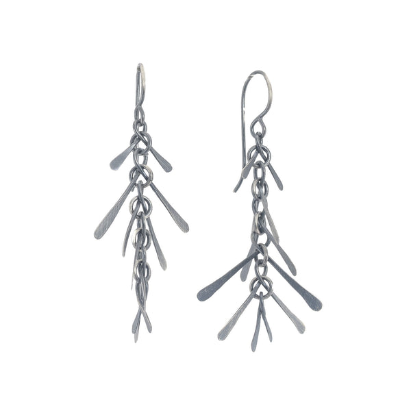 NEW! Oxidized Silver Spine Earrings by Dina Varano