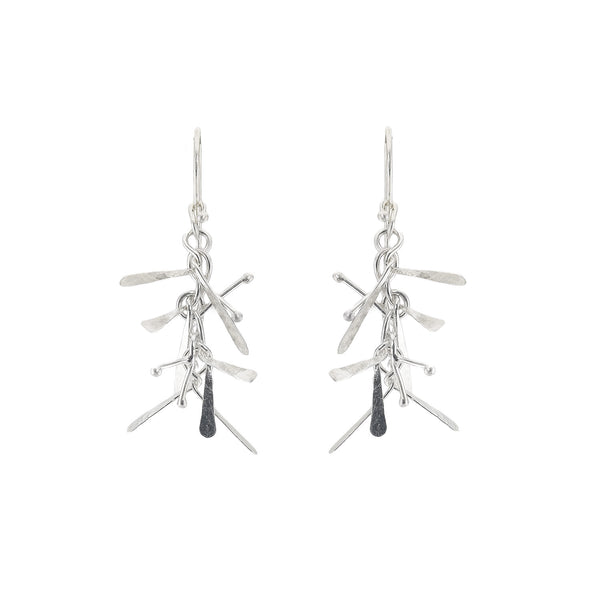 NEW! Flair Earrings in Bright Silver by Dina Varano