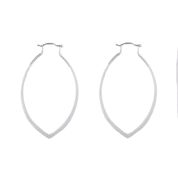 NEW! Medium Isla Marquis Hoops in Bright Silver by Shaesby