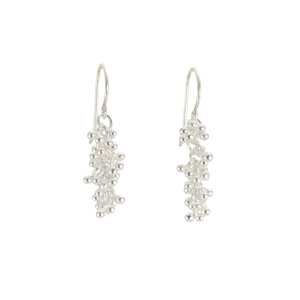 NEW! Silver Granulation Dangle  Earrings by Magally Lopez