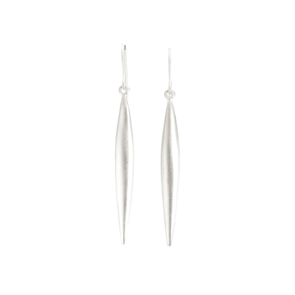 NEW! Sterling Silver Long Leaf Earrings by Dushka
