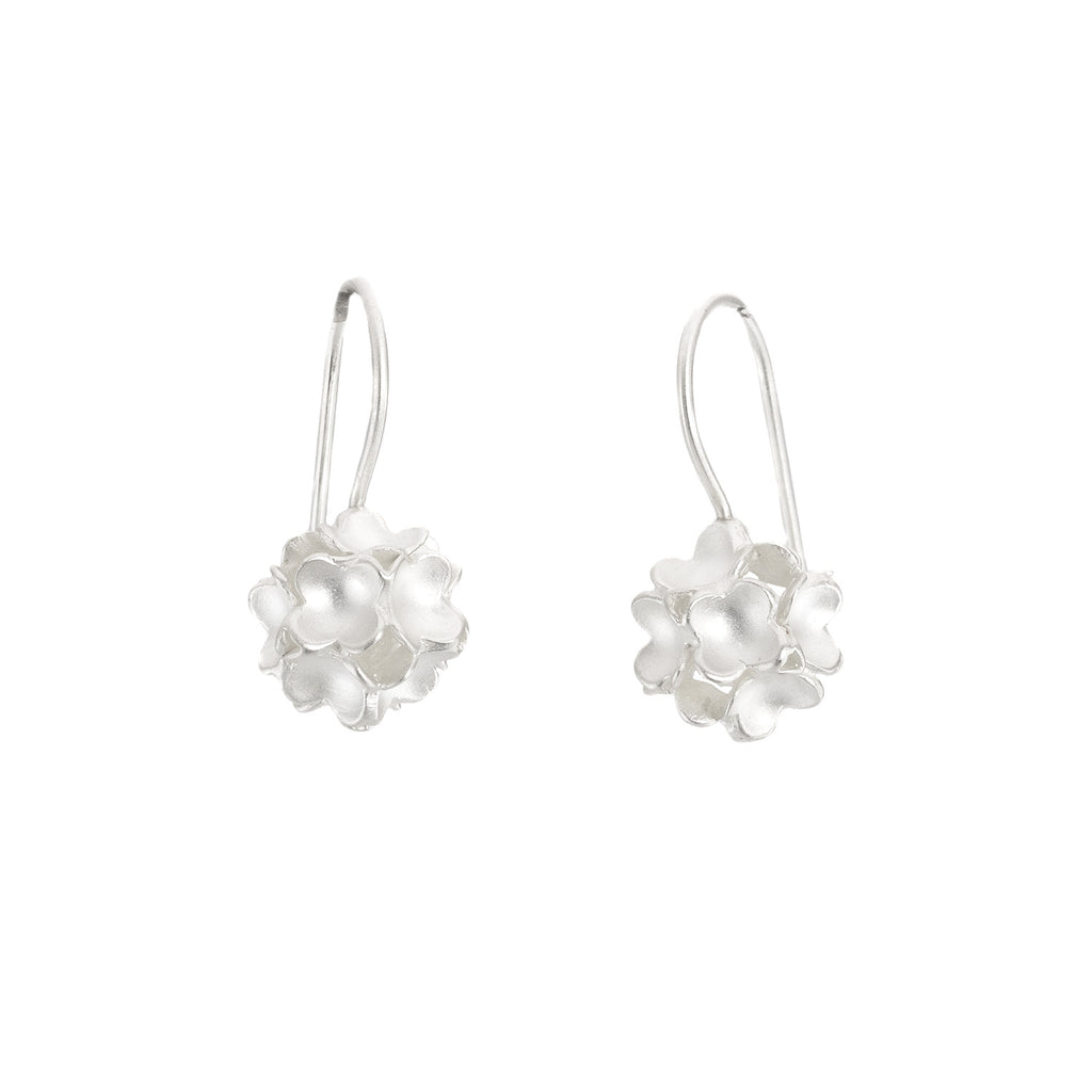 NEW! Sterling Silver Floral Sphere Earrings by Dushka